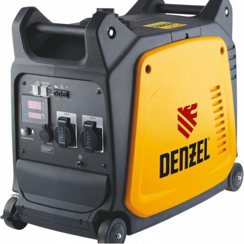Генератор инверторный GT-2600i, X-Pro 2.6 кВт, 220 В, цифровое табло, бак 7.5 л, ручной старт Denzel - 94643
