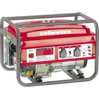Генератор бензиновый KB 2500, 2.4 кВт, 220 В/50 Гц, 15 л, ручной старт Kronwerk - 94691