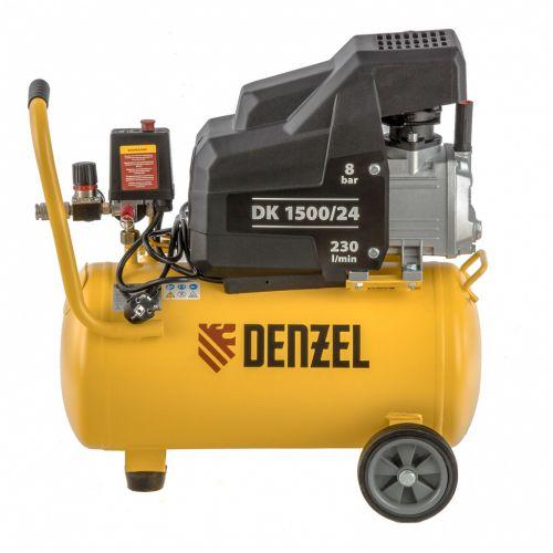 Компрессор воздушный DK1500/24, Х-PRO 1,5 кВт, 230 л/мин, 24 л Denzel - 58063