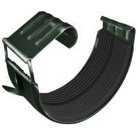 Соединитель желоба Grand Line D125/90 мм с резиновым уплотнителем RR 11 зеленый